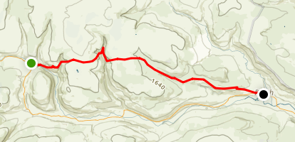 C2C Walk Segment 7: Keld To Reeth Map