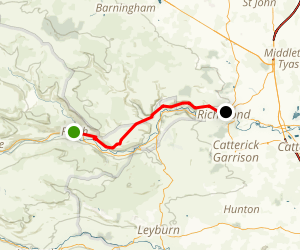 C2C Walk Segment 8: Reeth To Richmond Map