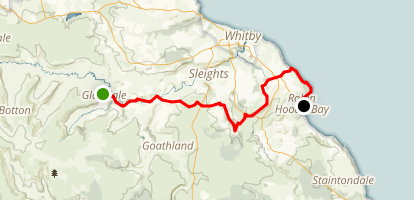 C2C Walk Segment 12: Glaisdale To Robin Hood's Bay  Map