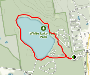 White Lake State Park Loop Trail Map
