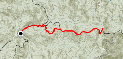 Appalachian Trail: Three Forks To Hawk Mountain Shelter Map