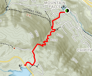 Crystal Creek Reservoir Trail Map