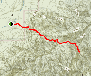 Romero Pass Via Romero Canyon Trail Map