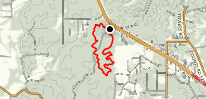 Wolf Creek Trail North Loop - Short Version Map