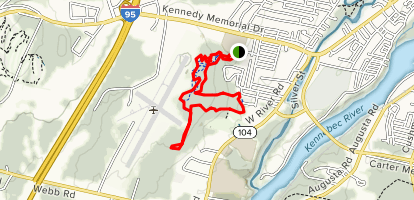 Inland Woods and Pine Ridge Loop Trail Map