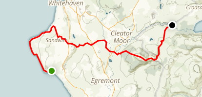 C2C Walk Segment 1: St Bees to Ennerdale Bridge Map