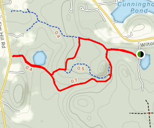Casalis Forest Trail Loop Map
