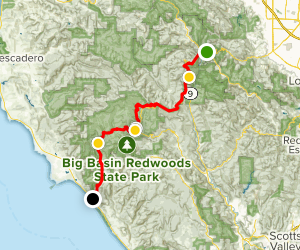 Skyline-to-the-Sea Trail Map