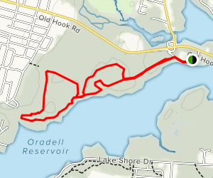 Oradell Reservoir Walk [PRIVATE PROPERTY] Map