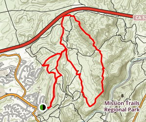 South Fortuna-North Fortuna-Sheppards Trail Loop Map