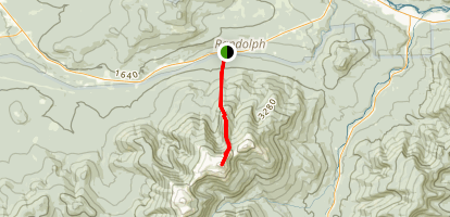 Mount Adams Via Air Line Trail Map