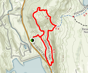 Reservoir Ridge Trail to Foothills Trail Loop Map