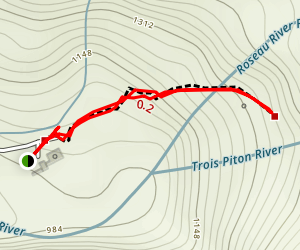 Trafalgar Falls Trail Map