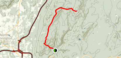 Goddard Shelter Via West Ridge Trail Map