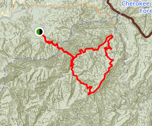 Mount Sterling Loop (via Low Gap, Big Creek, Swallow Fork) Map