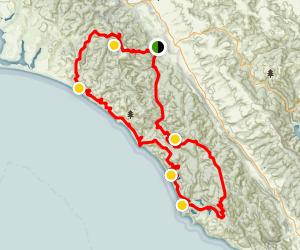 Point Reyes Extended Loop Map