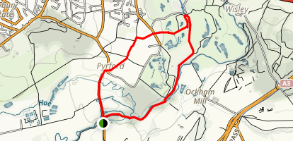 Pyrford Loop Route Map