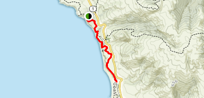 Kortum Trail from Shell Beach to Wrights Beach Map