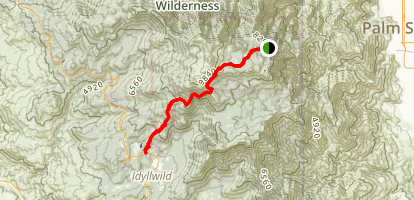 Palm Springs Tram to Idyllwild  Map