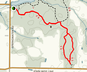 Jaffa Tract - Main Trail and Loop Map