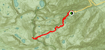Mount Whitney Trail to Discovery Pinnacle Map