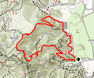 Mount Hollywood Loop Trail Map