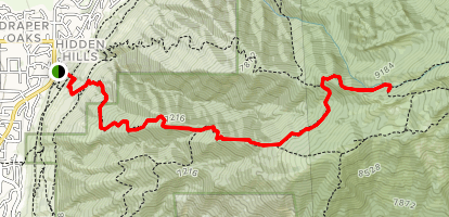 Cherry Canyon to Outlaw Cabin Map
