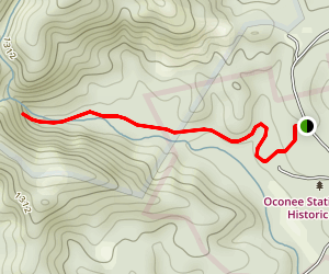 Oconee Station & Station Cove Falls Trail Map