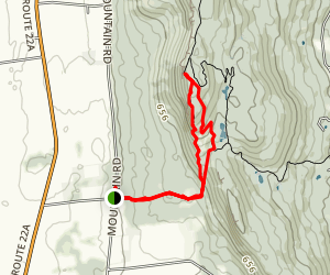 Pond Summit and Snake Mountain Loop Map
