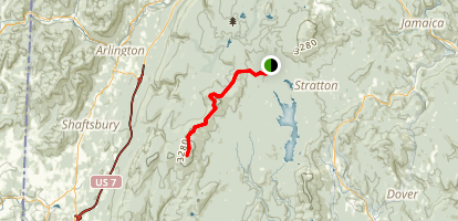 Glastenbury Mountain Via Appalachian Trail Map