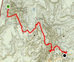 Zion Traverse: Lee Pass to East Rim Trailhead Map