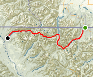 Northern Traverse: Chieftan Mountain to Kintla Lake Map
