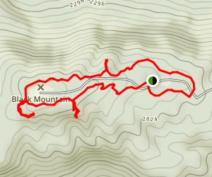Black Mountain Crest Loop Trail Map