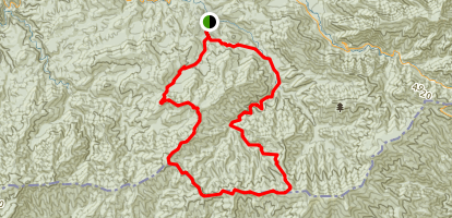 Jakes Creek via Miry Ridge Trail and Appalachian Trail Loop Map