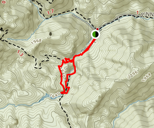 Bear Gulch Day Use Area to Reservoir via Rim Trail Map