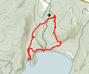 Burns Trail and Ledges Trail Map