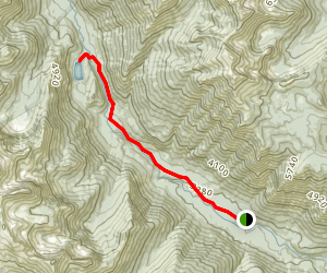 Shetipo Trail to Myrtle Lake Map