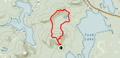 Carbou Mountain Map