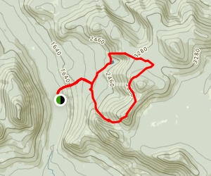 Mt Coe and South Brother Loop Map