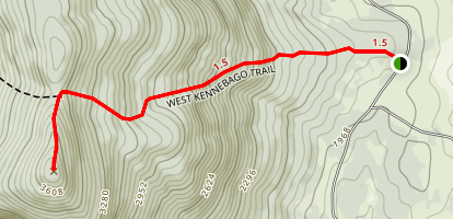 West Kennebago Mountain Trail (East Approach) Map
