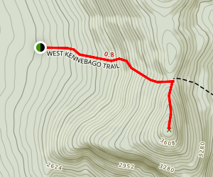 West Kennebago Trail (West Approach) Map