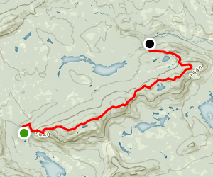 Appalachian Trail: Barren to Chairback Range Map