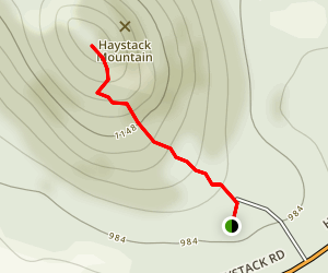 Haystack Hill Trail Map