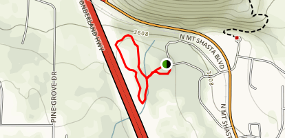 Mt Shasta City Park Meadows Loop Map