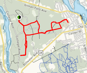 Blue, White and Red Trail Loop Map