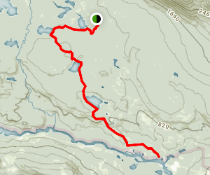Lost Pond Trail to Foss and Knowlton Trail Map