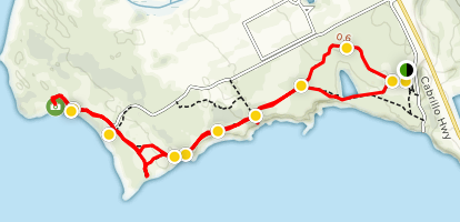 Ano Nuevo Point Trail Map