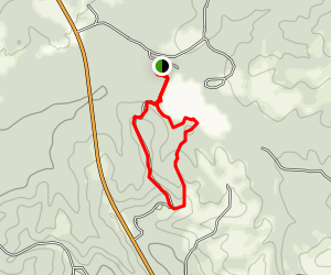 CCC Trail to Little River Lake Map