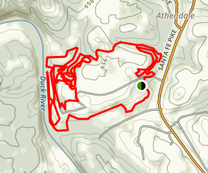 Chickasaw Trace Mountain Bike Trail Map