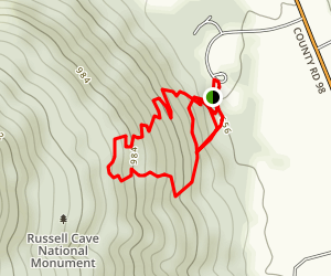Russell Cave Trail Map